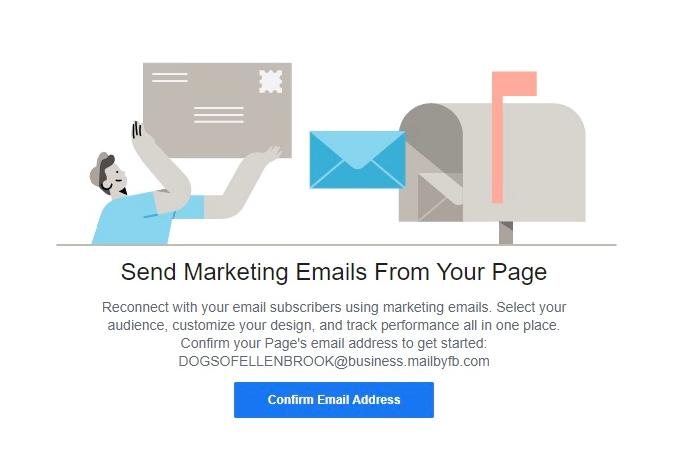 Facebook email marketing